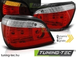 BMW E60 LCI 03.07-12.09 RED WHITE LED SEQ  Tuning-Tec Hátsó Lámpa