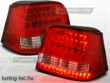 VW GOLF 4 09.97-09.03 RED WHITE LED  Tuning-Tec Hátsó Lámpa