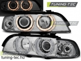 BMW E39 Angel Eyes 09.95-06.03 H7/H7 CHROME  SEDAN/TOURING Tuning-Tec Fényszóró