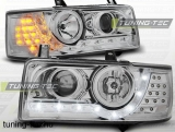 VW T4 90-03.03 TRANSPORTER DAYLIGHT CHROME LED INDICATION Tuning-Tec Fényszóró