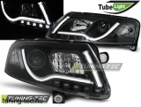 AUDI A6 C6 04.04-08 LED TUBE LIGHTS BLACK Tuning-Tec Fényszóró