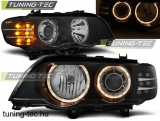 BMW X5 E53 09.99-10.03 ANGEL EYES BLACK LED INDICATOR Tuning-Tec Fényszóró