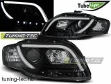 AUDI A4 B7 11.04-03.08 LED TUBE LIGHTS BLACK Tuning-Tec Fényszóró