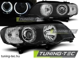BMW X5 E53 09.99-10.03 LED ANGEL EYES BLACK Tuning-Tec Fényszóró