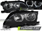 BMW E46 09.01-03.05 ANGEL EYES LED BLACK Tuning-Tec Fényszóró