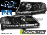 AUDI A6 C6 04.04-08 ANGEL EYES LED BLACK Tuning-Tec Fényszóró