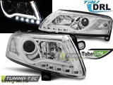 AUDI A6 C6 04.04-08 LED TUBE LIGHTS TRUE DRL CHROME Tuning-Tec Fényszóró