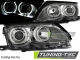 BMW E46 09.01-03.05 ANGEL EYES LED CHROME Tuning-Tec Fényszóró