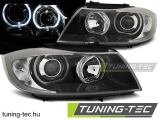 BMW E90/E91 03.05-11 LED ANGEL EYES BLACK Tuning-Tec Fényszóró