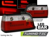 BMW E36 12.90-08.99 Coupe/Cabrio RED WHITE BAR LED Tuning-Tec Hátsó Lámpa