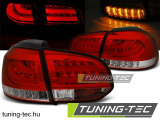 VW GOLF 6 10.08-12 RED WHITE LED BAR Tuning-Tec Hátsó Lámpa