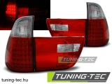 BMW X5 E53 09.99-06 RED WHITE LED Tuning-Tec Hátsó Lámpa