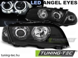 BMW E46 05.98-08.01 LIMOUSINE, TOURING ANGEL EYES LED BLACK Tuning-Tec Fényszóró