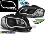 AUDI A3 8P 05.03-03.08 LED TUBE LIGHTS BLACK TRU DRL Tuning-Tec Fényszóró