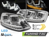 VW POLO 6R 09-03.14 U-TYPE LED SEQ CHROME Tuning-Tec Fényszóró