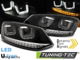 VW POLO 6R 09-03.14 U-TYPE LED SEQ BLACK Tuning-Tec Fényszóró