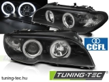 BMW E46 04.03-06 COUPE CABRIO ANGEL EYES CCFL BLACK Tuning-Tec Fényszóró
