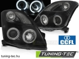 SUZUKI SWIFT 05.05-10 CCFL ANGEL EYES BLACK Tuning-Tec Fényszóró
