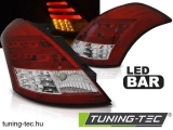 SUZUKI SWIFT IV 10- RED WHITE LED BAR Tuning-Tec Hátsó Lámpa