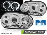 VW GOLF 4 09.97-09.03 ANGEL EYES CCFL CHROME Tuning-Tec Fényszóró