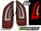 VW UP! 3.11- / SKODA CITIGO 12.11- RED WHITE LED BAR Tuning-Tec Hátsó Lámpa