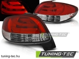PEUGEOT 206 10.98- RED WHITE LED BAR Tuning-Tec Hátsó Lámpa