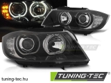 BMW E90/E91 03.05-11 LED ANGEL EYES BLACK LED  Tuning-Tec Fényszóró