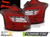FORD FOCUS 3 11-10.14 HATCHBACK RED WHITE LED BAR SEQ IND Tuning-Tec Hátsó Lámpa