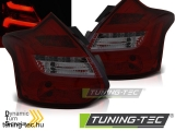 FORD FOCUS 3 11-10.14 HATCHBACK RED SMOKE LED BAR SEQ IND Tuning-Tec Hátsó Lámpa