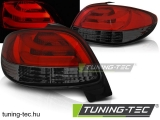 PEUGEOT 206 10.98- RED SMOKE LED BAR Tuning-Tec Hátsó Lámpa