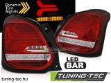 SUZUKI SWIFT VI 17- RED WHITE LED Tuning-Tec Hátsó Lámpa