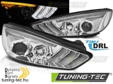FORD FOCUS MK3 15-18 CHROME DRL LED SEQ INDICAOR Tuning-Tec Fényszóró