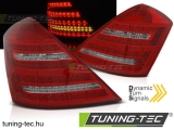 MERCEDES W221 S-KLASA 05-09 RED WHITE LED SEQ Tuning-Tec Hátsó Lámpa