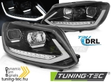 VW TOURAN II 08.10-15 BLACK TUBE LIGHT TRU DRL Tuning-Tec Fényszóró