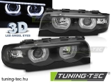 BMW E38 94-01 3D ANGEL EYES LED BLACK Tuning-Tec Fényszóró