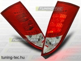 FORD FOCUS MK1 10.98-10.04 HATCHBACK RED WHITE LED  Tuning-Tec Hátsó Lámpa
