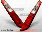 FORD FOCUS MK2 09.04-10 HATCHBACK RED WHITE LED  Tuning-Tec Hátsó Lámpa