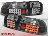 HONDA CIVIC 09.91-08.95 3D BLACK LED  Tuning-Tec Hátsó Lámpa