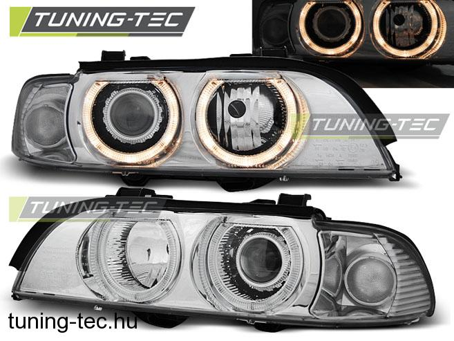 BMW E39 Angel Eyes 09.95-06.03 D2S/H7 CHROME  SEDAN/TOURING Tuning-Tec Fényszóró