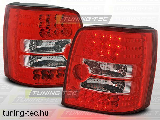 VW PASSAT B5 11.96-08.00 VARIANT RED WHITE LED  Tuning-Tec Hátsó Lámpa