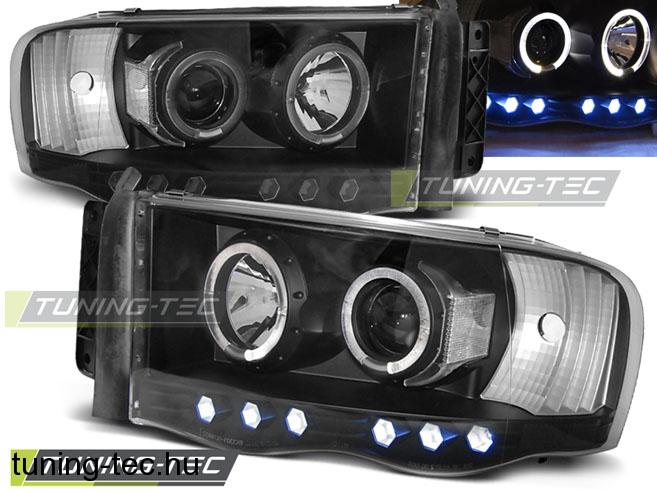 DODGE RAM 02-06 ANGEL EYES BLACK  Tuning-Tec Fényszóró