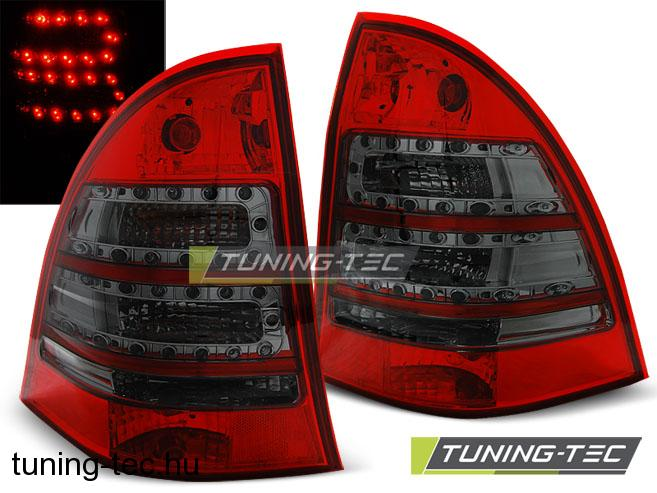 h ts l mp k mercedes c klasa w203 kombi 00 04 red smoke. Black Bedroom Furniture Sets. Home Design Ideas